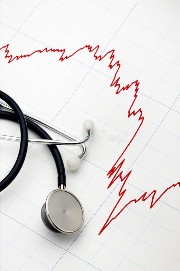 Herzinfarkt auf Wall Street lizenzfreies stockfoto