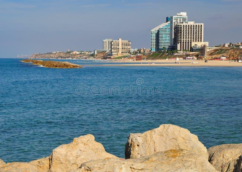 Herzlia seashore. A view of the Herzlia seashore. Israel stock images