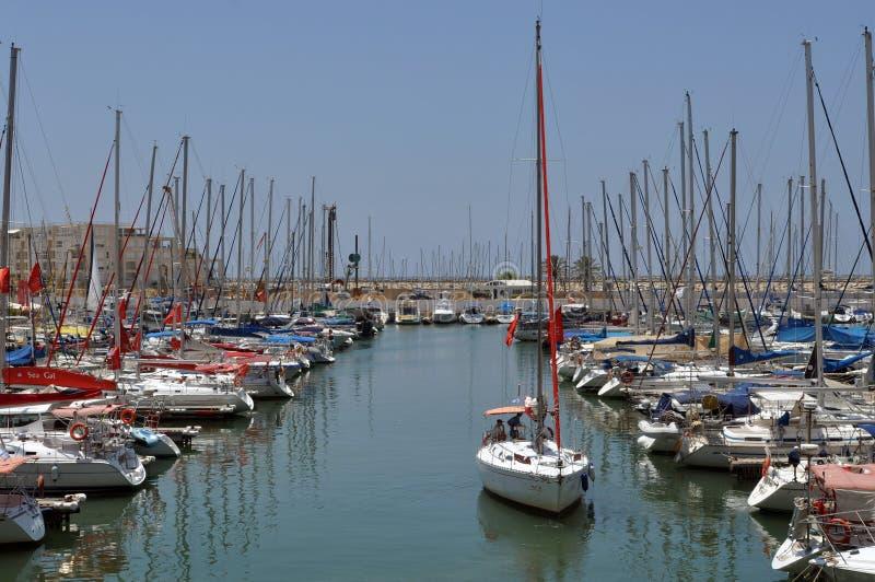 Herzliya-Jachthafen stockbilder