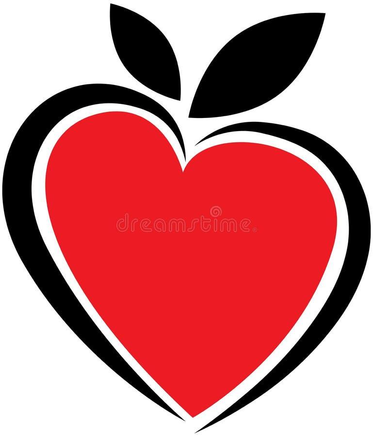 Herzlogo lizenzfreie abbildung