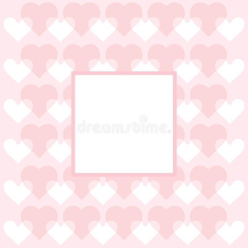 Herzmuster - Herzen tapezieren Sie - Valentinstagkarte stock abbildung