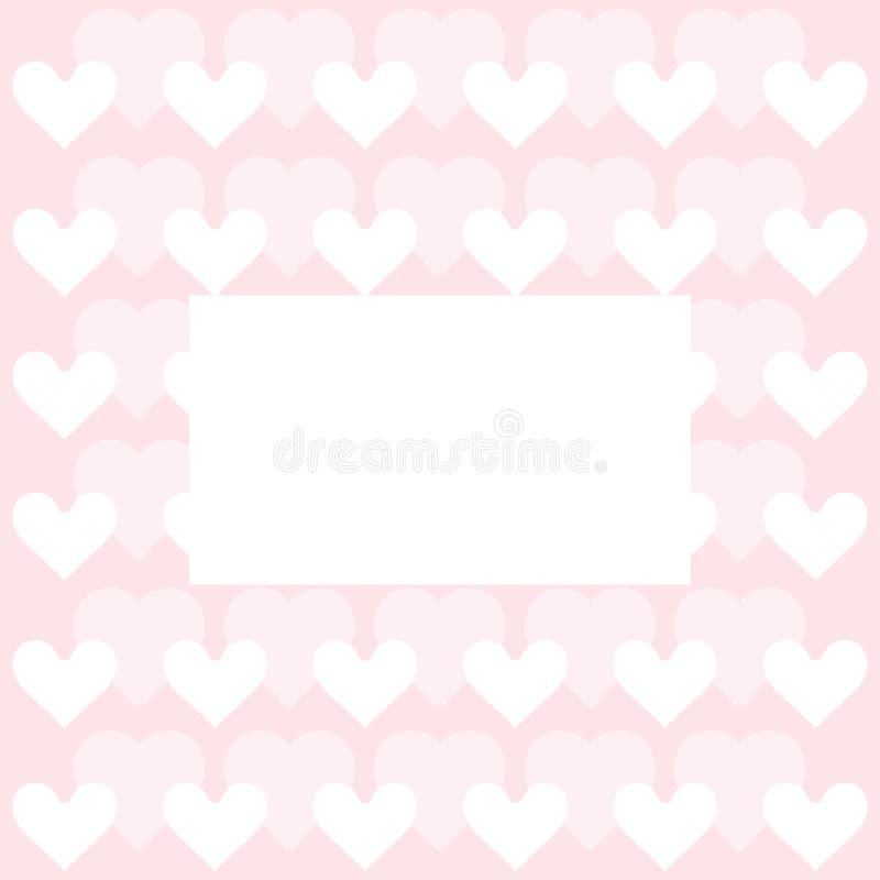 Herzmuster - Herzen tapezieren Sie - Valentinstagkarte vektor abbildung