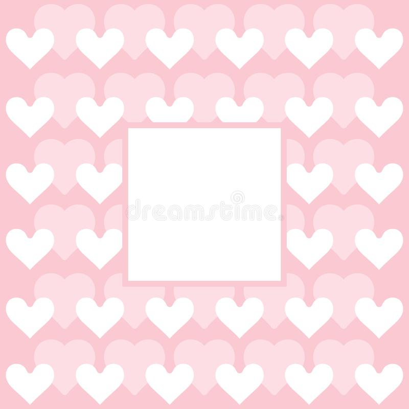 Herzmuster - Herzen tapezieren Sie - Valentinstagkarte lizenzfreie abbildung