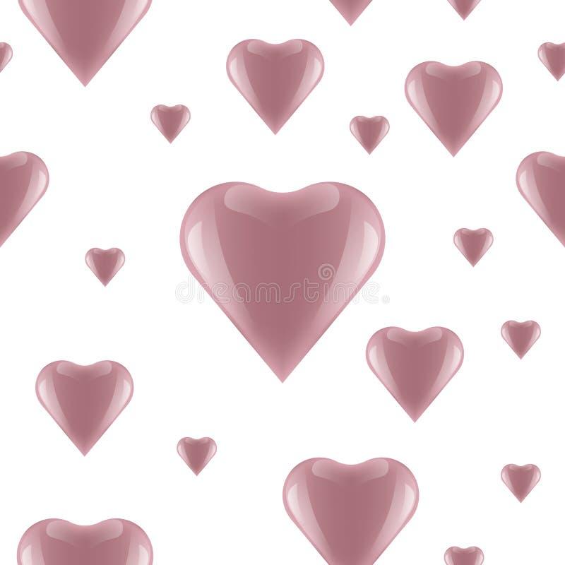 Herzmuster, Vektorillustration der roten Herzform, Valentinstagmuster, stockbild