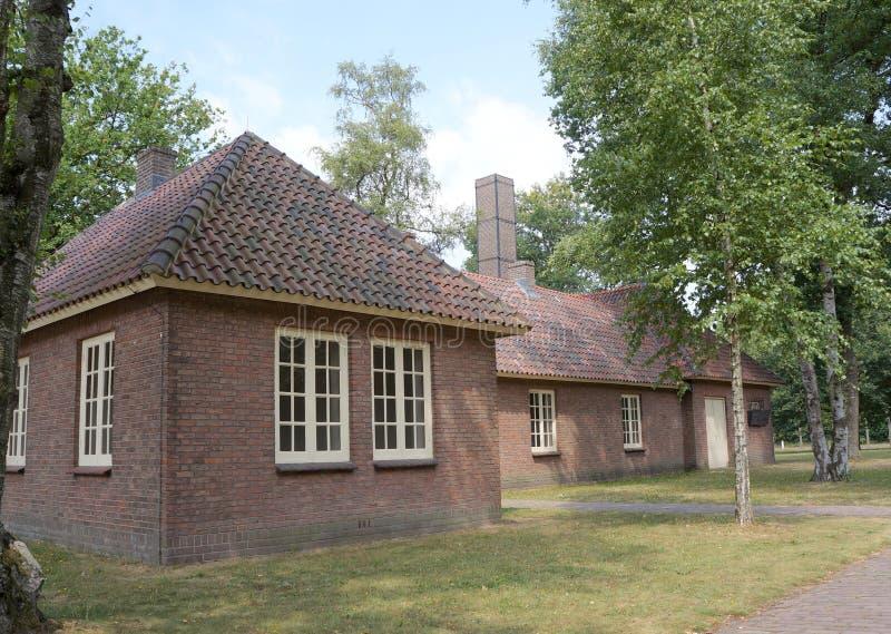 Herzogenbusch eller lägerVught koncentrationsläger i Nederländerna arkivbild
