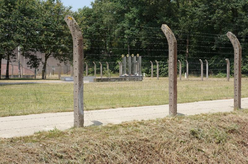 Herzogenbusch eller lägerVught koncentrationsläger i Nederländerna royaltyfri fotografi