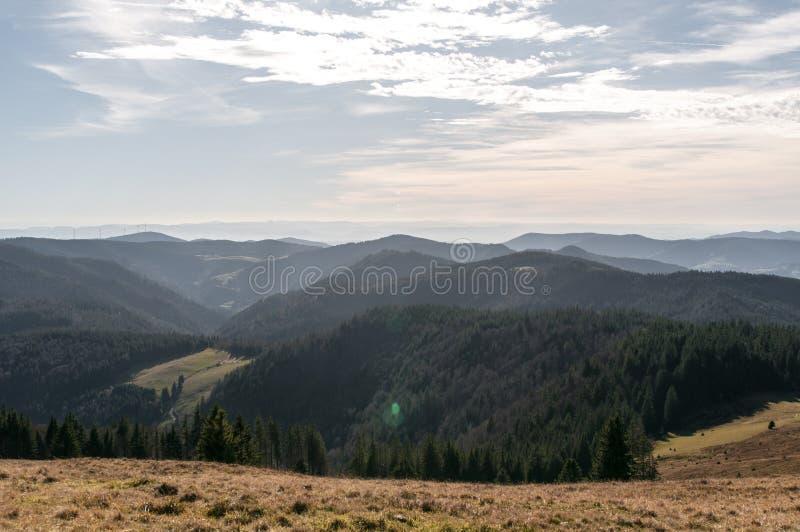 Herzogenhorn in Black Forest in autumn stock images