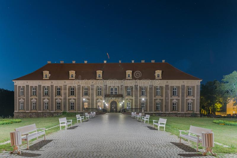 Herzoglicher Palast in der Stadt von Zagan lizenzfreies stockfoto