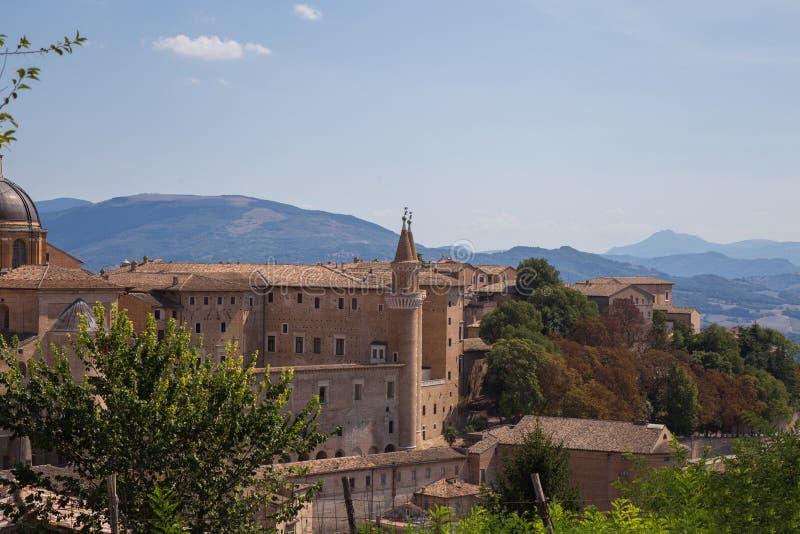 Herzoglicher Palast, Urbino, Italien stockfotografie