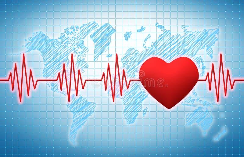 Herzrhythmus vektor abbildung