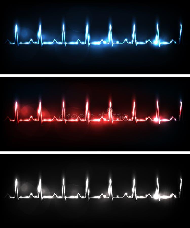 Herzschläge stock abbildung