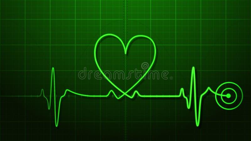 Herzschlag lizenzfreie abbildung