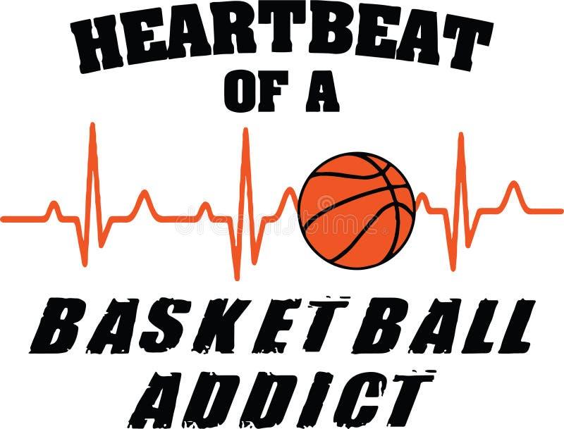 Herzschlag eines Basketball-Süchtigen stockfotos