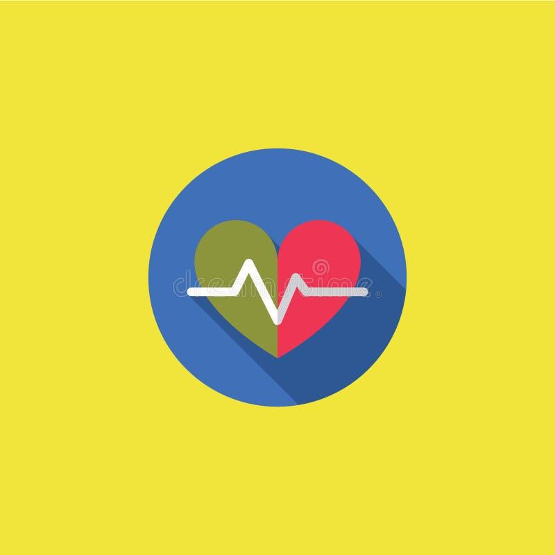 Herzschlag-Ikonen-Vektor-Illustration lizenzfreie stockfotografie