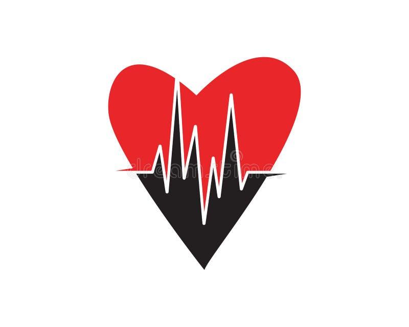 Herzschlag-Impulsvektor der Kunstdesigngesundheit medizinischer vektor abbildung