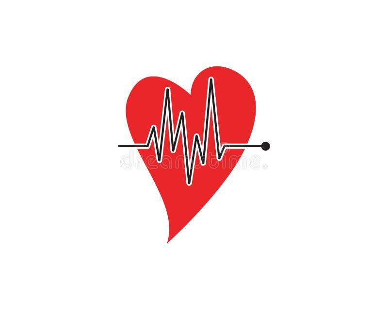 Herzschlag-Impulsvektor der Kunstdesigngesundheit medizinischer lizenzfreie abbildung