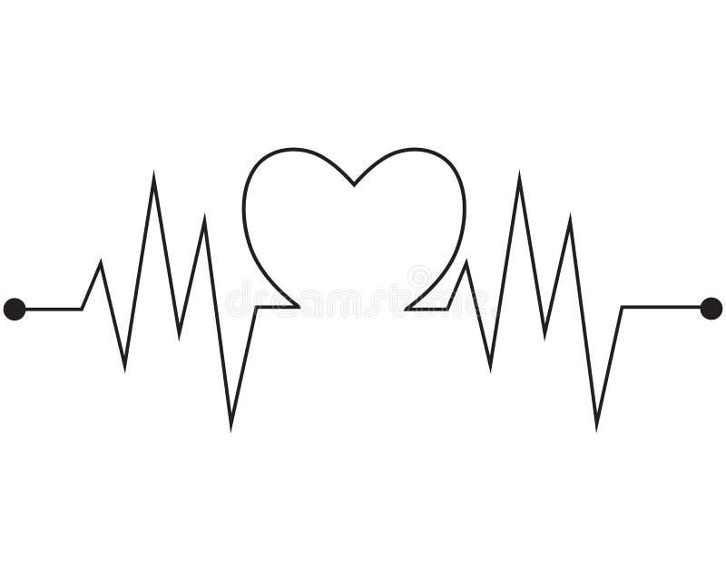 Herzschlag-Impulsvektor der Kunstdesigngesundheit medizinischer stock abbildung