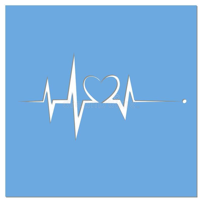 Herzschlag-Linie Herz Herz lizenzfreie abbildung