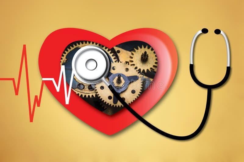 Herzschlag-Linie Herz Herz lizenzfreie stockbilder