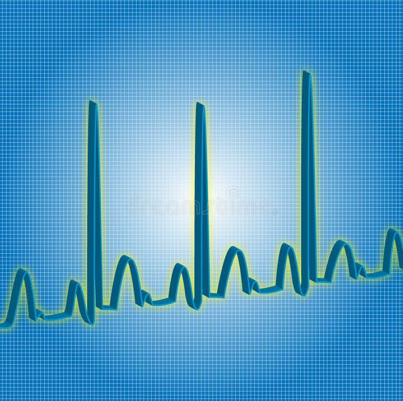 Herzschlagblau lizenzfreie stockfotos