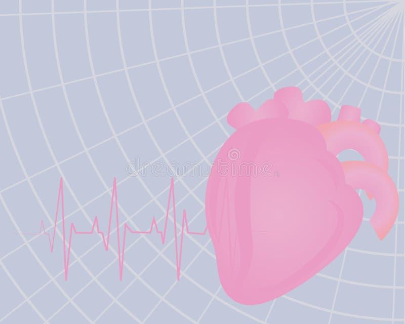 Herzschlagen Bunte Zeichnung des Elektrokardiogramms lizenzfreie abbildung