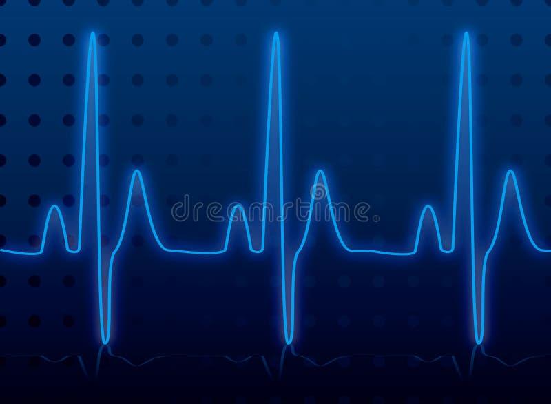 Herzschlagglühen vektor abbildung