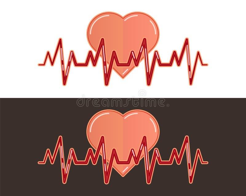 Herzschlaglinie Symbol stock abbildung