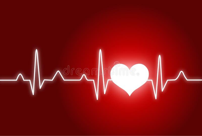 Herzschlagmonitor stock abbildung