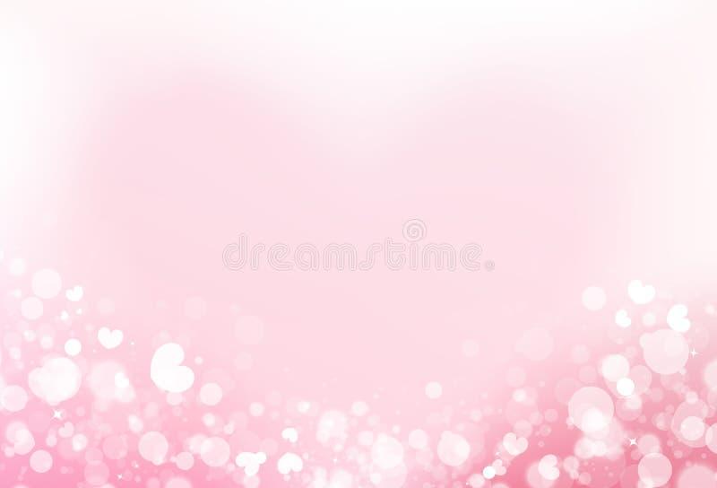 Herzstreuung mit undeutlichem glücklichem Jahrestag von Liebeskonzept abst lizenzfreie abbildung