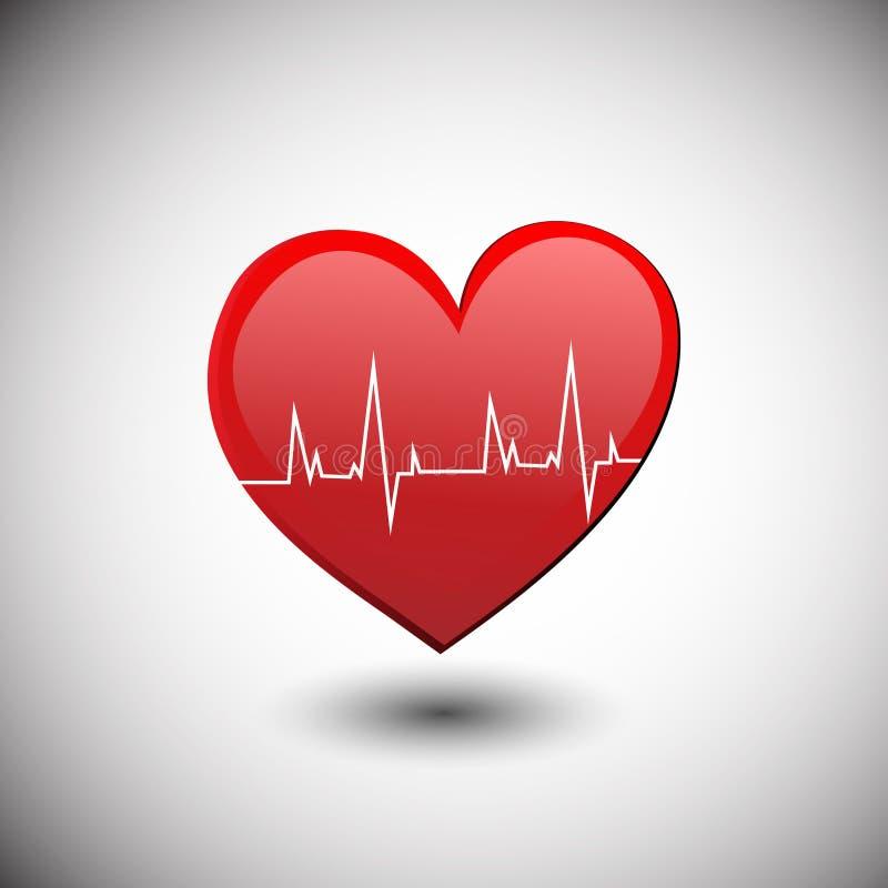 Herzsymbol mit Hitzeschlag lizenzfreie abbildung