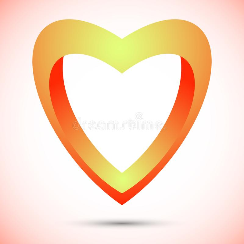 Herzsymbollogoikonenentwurfs-Schablonenelemente stock abbildung