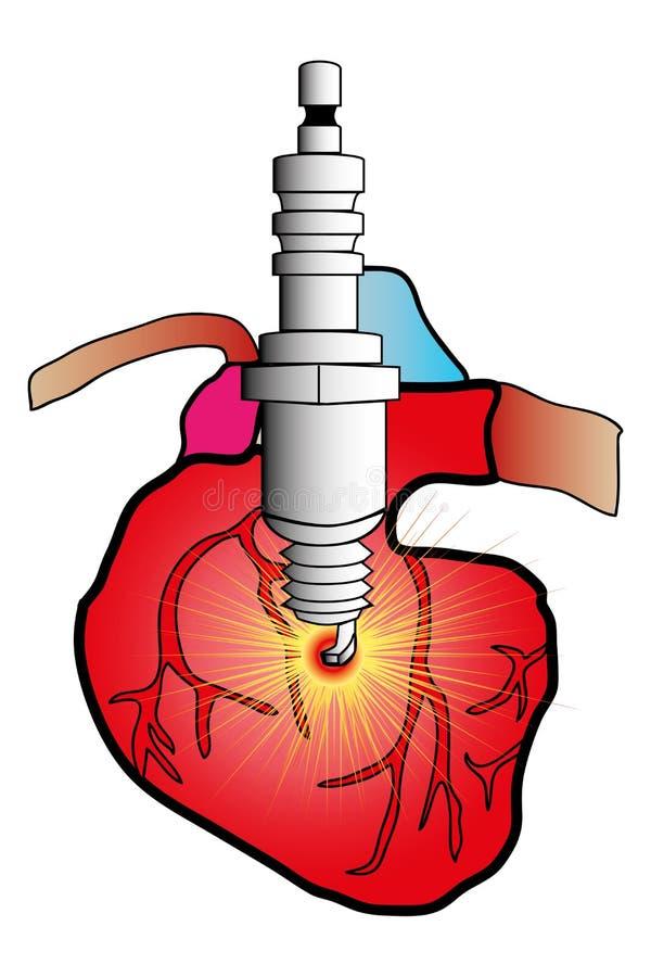 Herzsystem stock abbildung. Illustration von pulsieren - 33863775