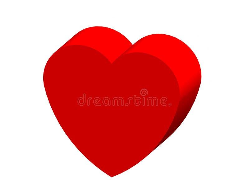 Herzvalentinsgruß für glücklichen Tag stockbilder