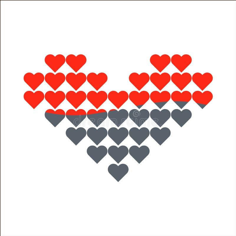 Herzvektor-Liebesikone Liebeswelle stock abbildung