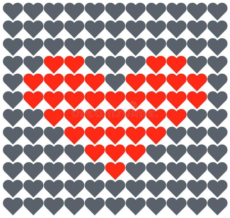 Herzvektorliebe Romantisches Muster vektor abbildung