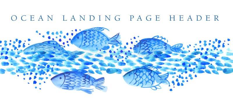 Hesder del pesce illustrazione di stock