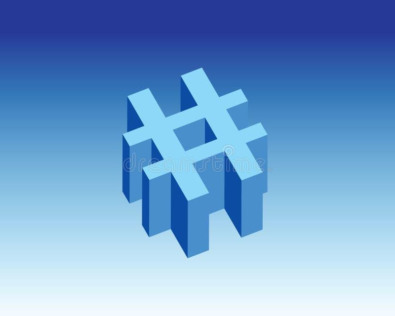 Hesh symbol & tecken 3d arkivbild
