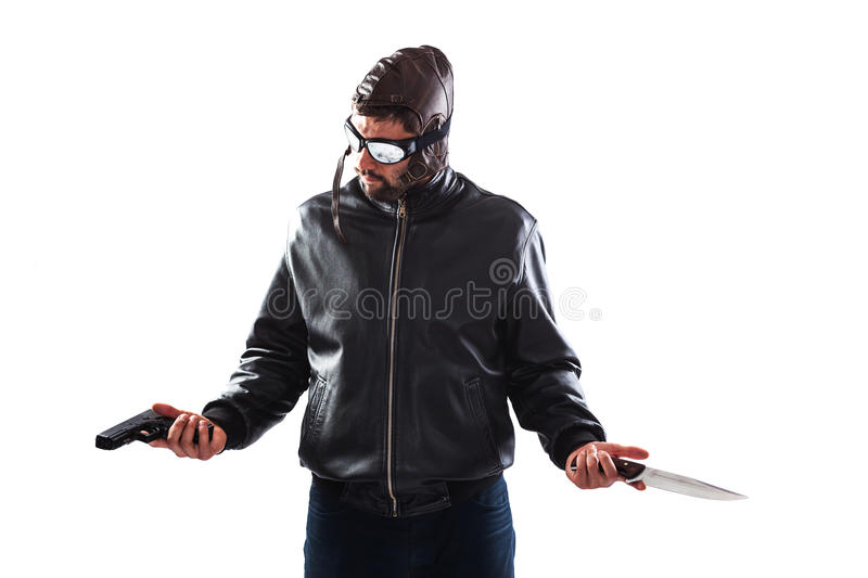 Download Hesitant Assassin Choosing His Weapon Stock Image - Image: 39527993