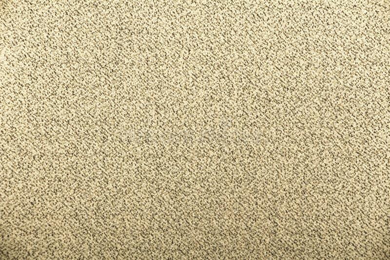 Heski parciany burlap wyplatający tekstury tło, bawełna wyplatający tkaniny tło z flecks zmieniać kolory/beż i brew zdjęcie royalty free