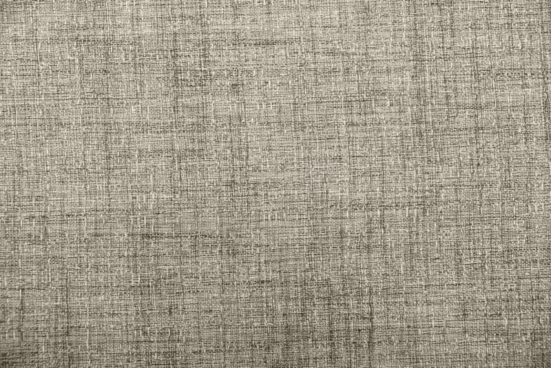 Heski parciany burlap wyplatający tekstury tło, bawełna wyplatający tkaniny tło z flecks zmieniać kolory/beż i brew zdjęcia stock