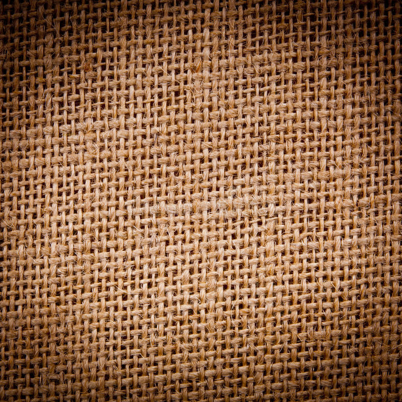 Hessian. Or burlap sack texture as background royalty free stock images