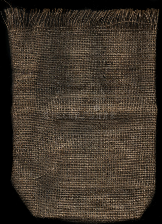 Hessian. Brown cloth for background royalty free stock image