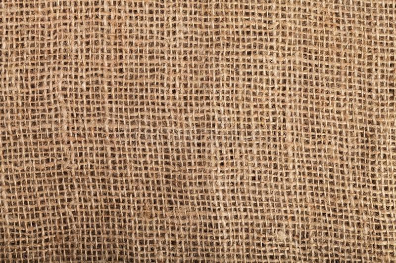 Hessian. Burlap bag cloth fabric background jute stock photography
