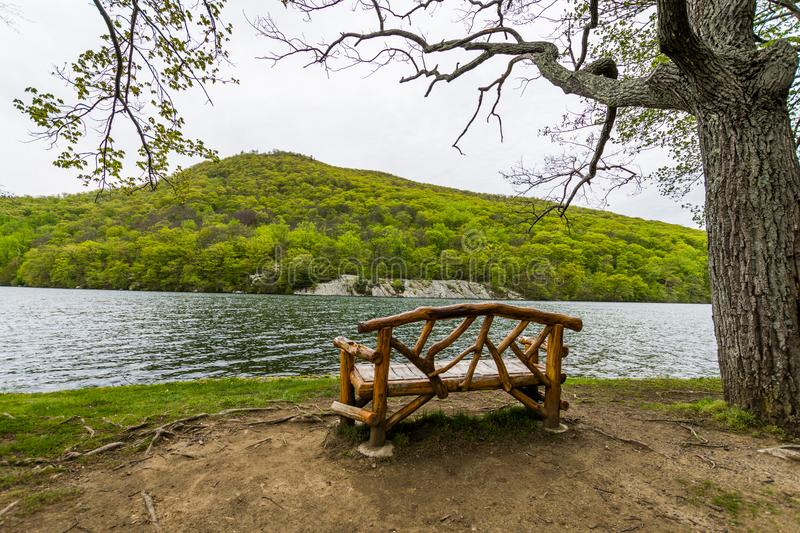 Hessian Lake in Bear Mountain in Upstate New York.  royalty free stock photography