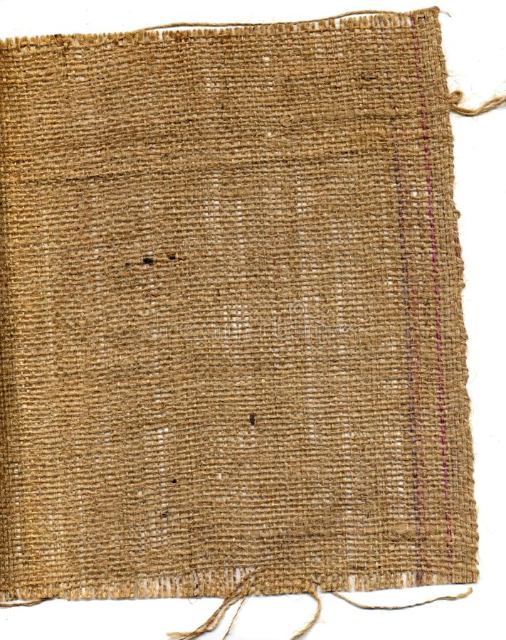 Hessian. A piece of frayed hessian for a background royalty free stock photography