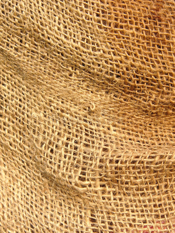 Hessian sack. Close-up of hessian sacking royalty free stock image