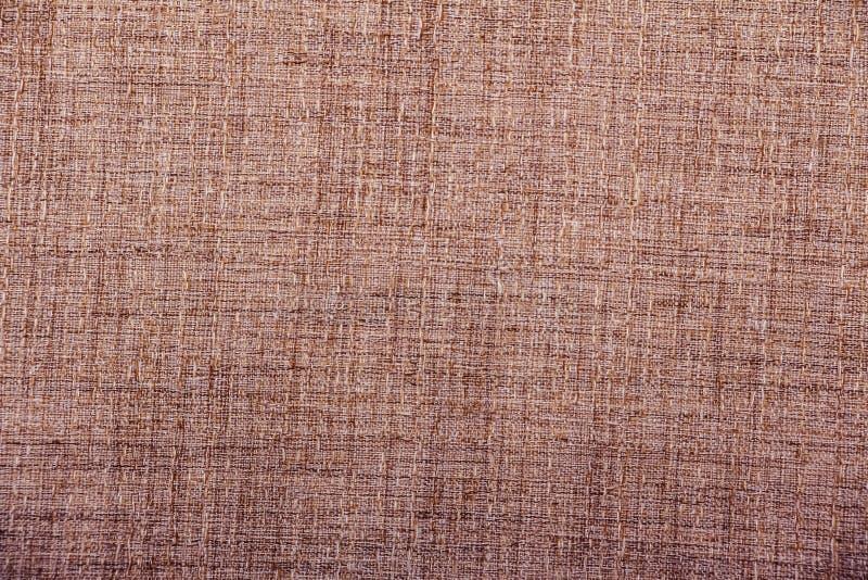 Hessian sackcloth υφαμένο burlap υπόβαθρο σύστασης/υφαμένο βαμβάκι υπόβαθρο υφάσματος με τις κηλίδες των ποικίλων χρωμάτων του μπ στοκ εικόνα