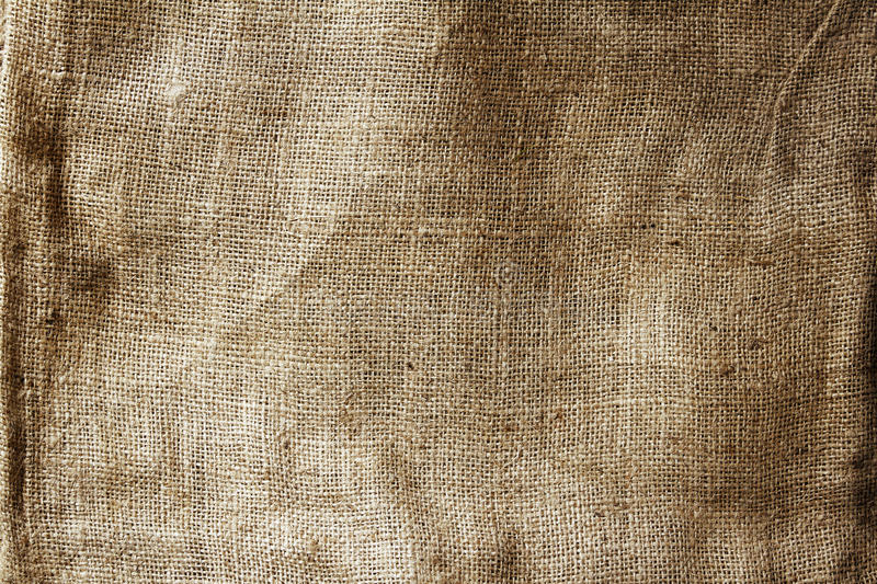 Hessian sacking. Closeup of burlap hessian sacking royalty free stock image
