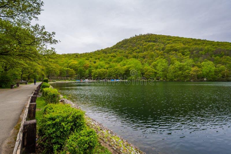 Hessian See, am Bear Mountain-Nationalpark, New York stockfotos