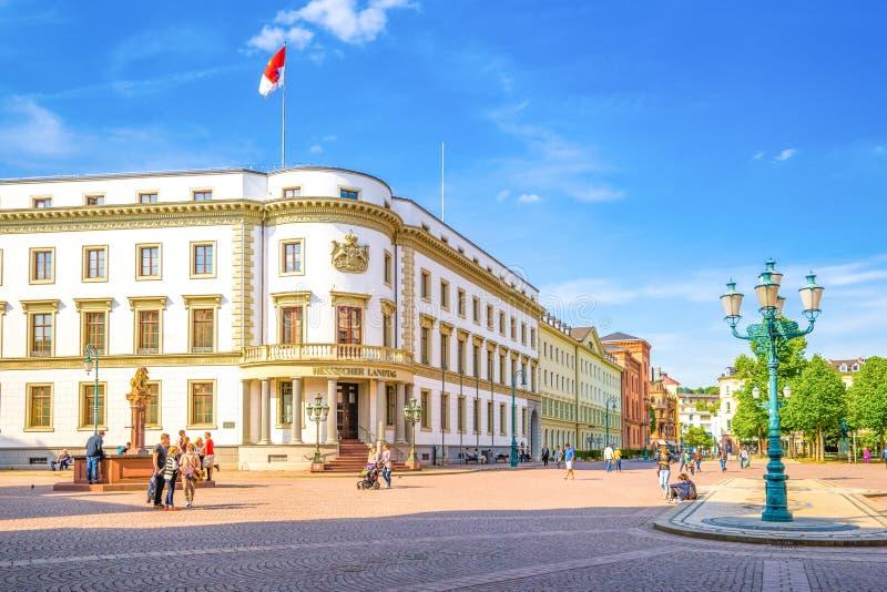 Hessischer Landtag, Wiesbaden fotografía de archivo libre de regalías